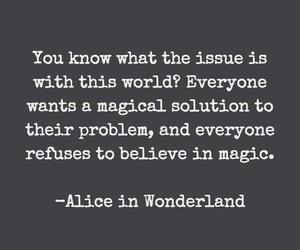 quotes, magic, and alice in wonderland image