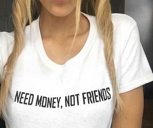 girl, fashion, and money image