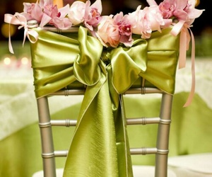 bow, green, and reception image