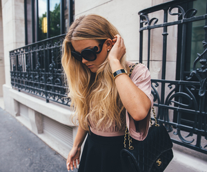 blonde, chanel, and curly hair image