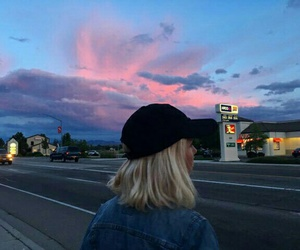 girl, sky, and tumblr image