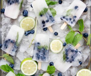 food, blueberry, and ice image