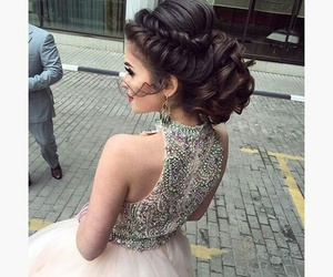 dress, gorgeous, and hair style image