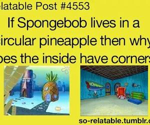 spongebob, funny, and pineapple image