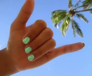 summer, nails, and beach image