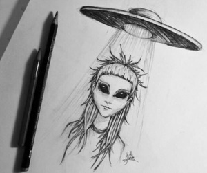 art, alien, and draw image