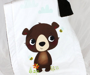 bear, bedding, and throws image