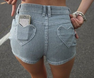 fashion, shorts, and heart image