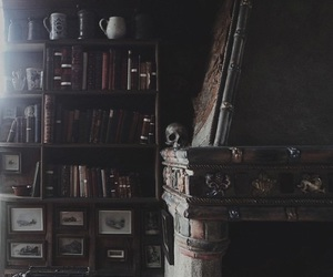 books and skull image
