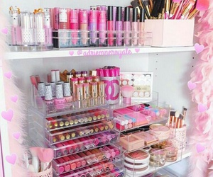girly, makeup, and pink image