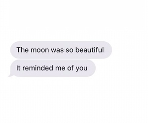 couple, moon, and text image
