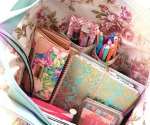 bag, school, and planner image