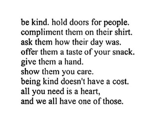 quote, kind, and heart image