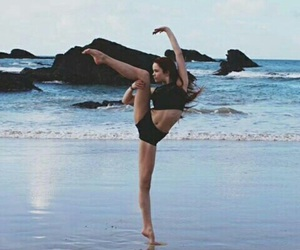 dance, beach, and dancer image