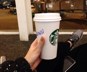 cold, starbucks, and street image