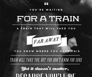 black and white, movie, and train image