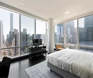 bedroom, new york city, and view image