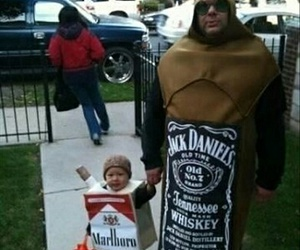 marlboro, jack daniels, and Halloween image