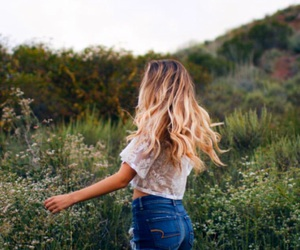hair, nature, and summer image