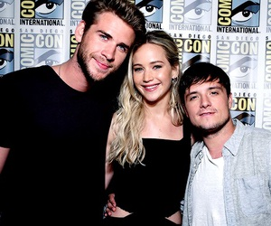 josh hutcherson, liam hemsworth, and Jennifer Lawrence image