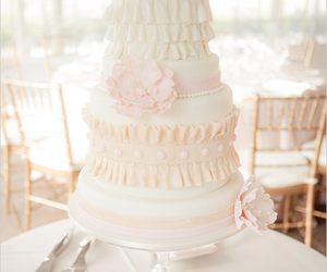 pink, cake, and ruffles image