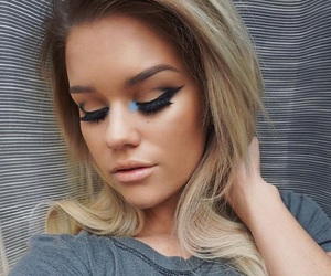 gorgeous, winged eyeliner, and makeup goals image