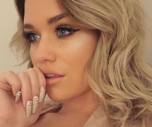 blue eyes, nails, and gorgeous image