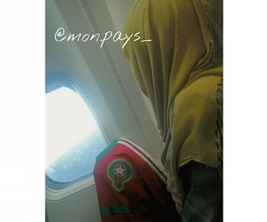 avion, hijab, and maroc image