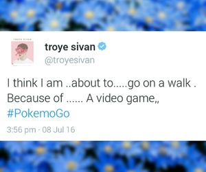 pokemon, troye sivan, and funny tweets image