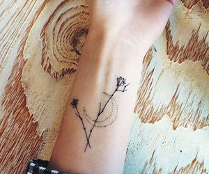 tattoo, flowers, and moon image