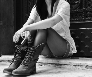 beautiful, combat boots, and girl image