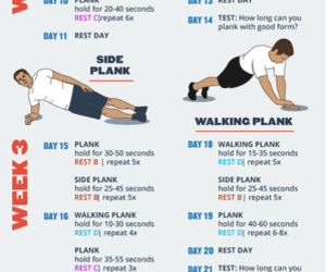 fitness, planking, and workout plan image
