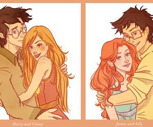 harry potter, james potter, and ginny weasley image