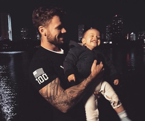 baby, child, and father image