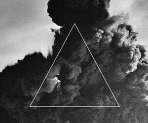 triangle, wallpaper, and smoke image
