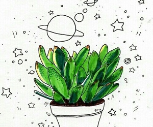 space withe plant green image