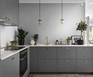 home, grey, and kitchen image