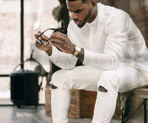 hot guys, bryson tiller, and all white image