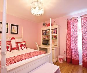 pink, barbie, and bedroom image