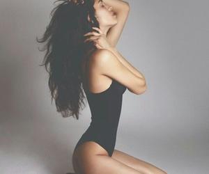 girl, hair, and skinny image
