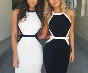 black and white, chevere, and moda image