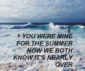 Lyrics, quote, and summer image