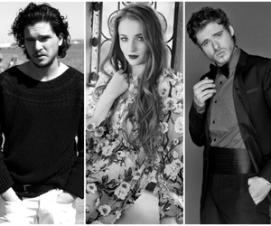 richard madden, sophie turner, and robb stark image