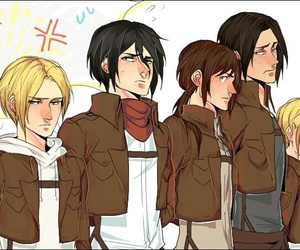 snk, genderbend, and attack on titan image