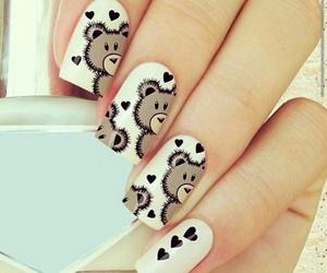 nails, bear, and white image