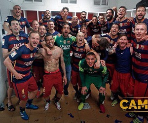 fc barcelona and champions image
