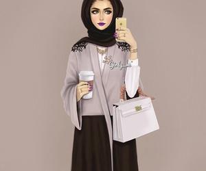 girly_m, hijab, and art image