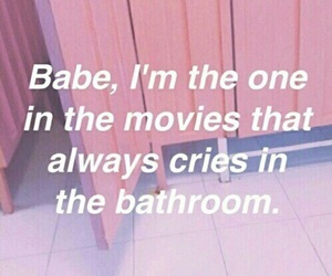 pink, quotes, and cry image