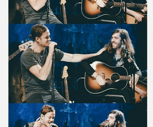 imagine dragons, dan reynolds, and wayne sermon image