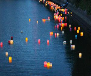 city, colour, and lanterns image